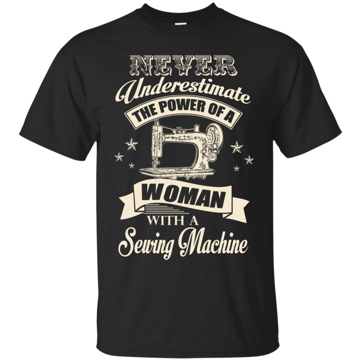 BeeTee: Power Of A Woman With A Sewing Machine T-Shirt