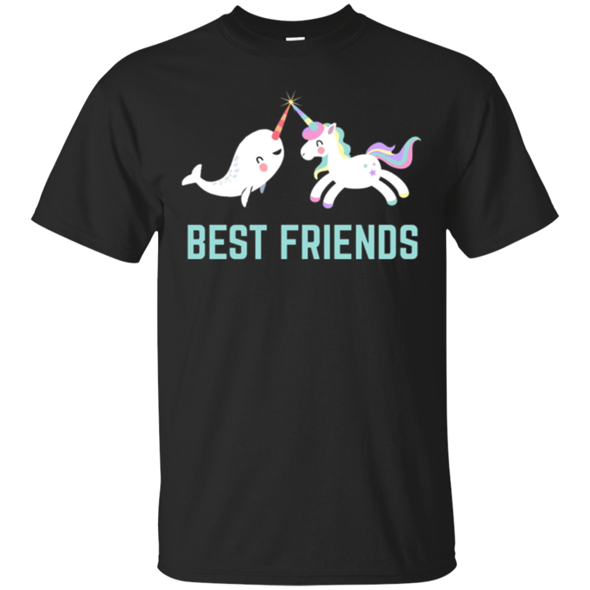 Best Friends Unicorn Narwhal Narwal Besties BFF Girl T SHIRT