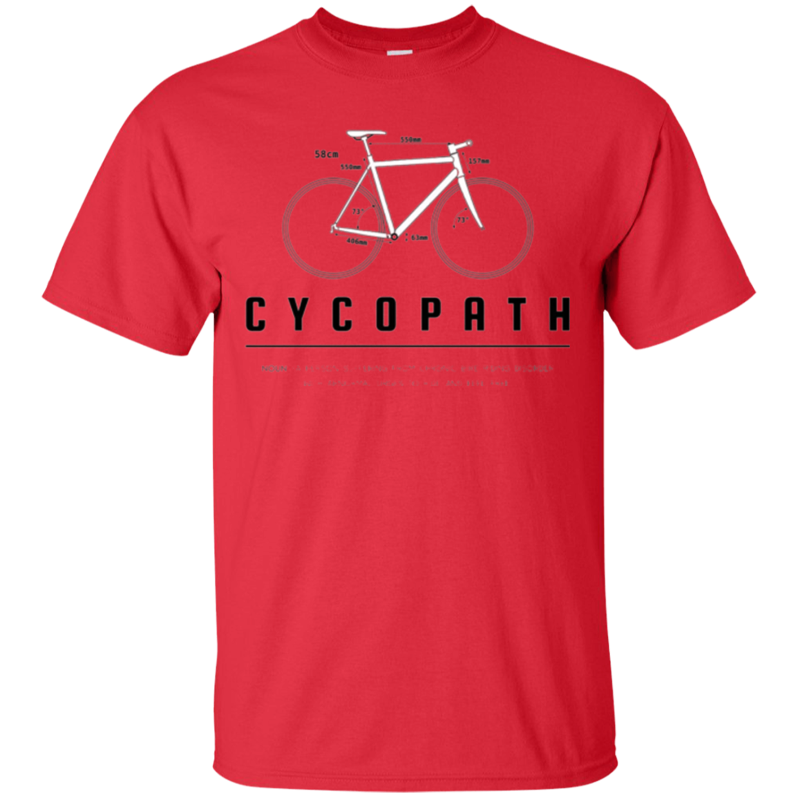 Cycopath T-shirt, Funny Definition and Bike Icon