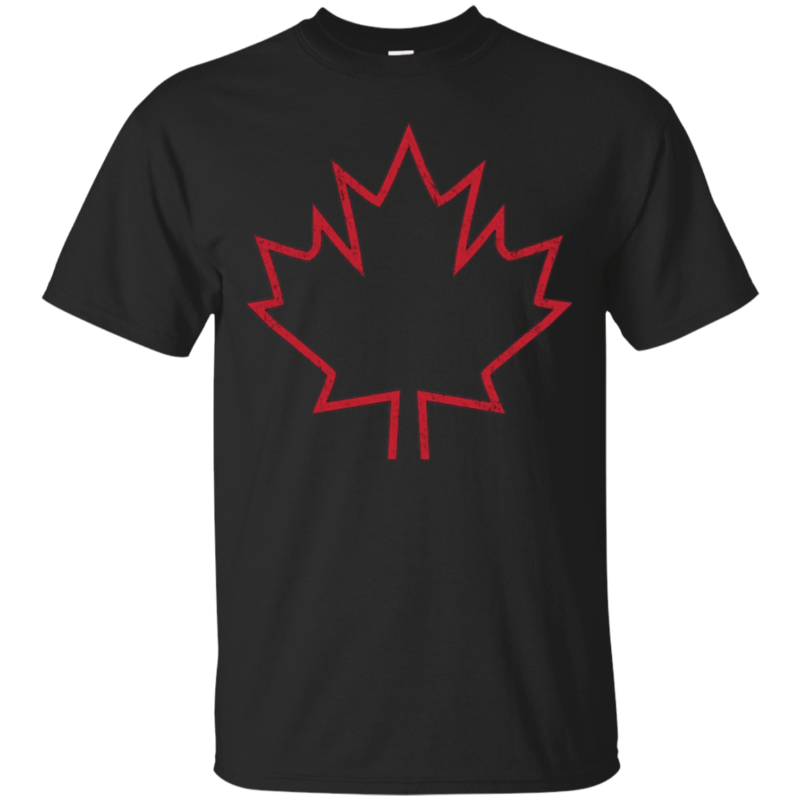 Canada Maple Leaf Distressed T-Shirt