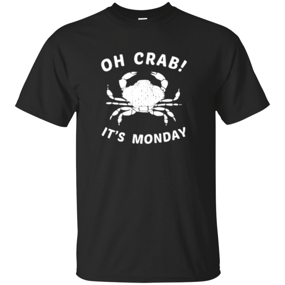 Oh Crab It's Monday Long Sleeve Shirt, Funny Crabby Apparel