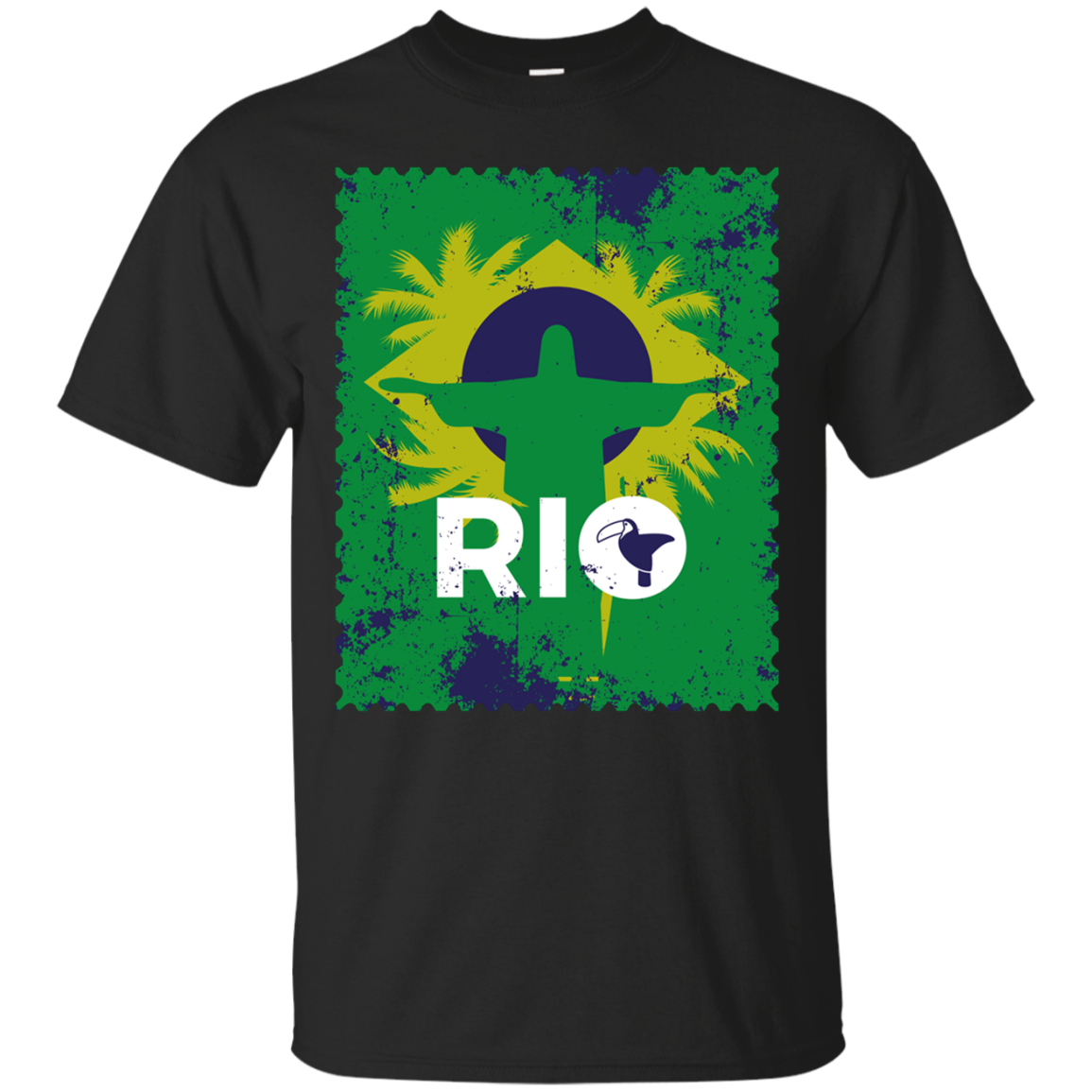 Trendy Rio Travel Stamp TShirt