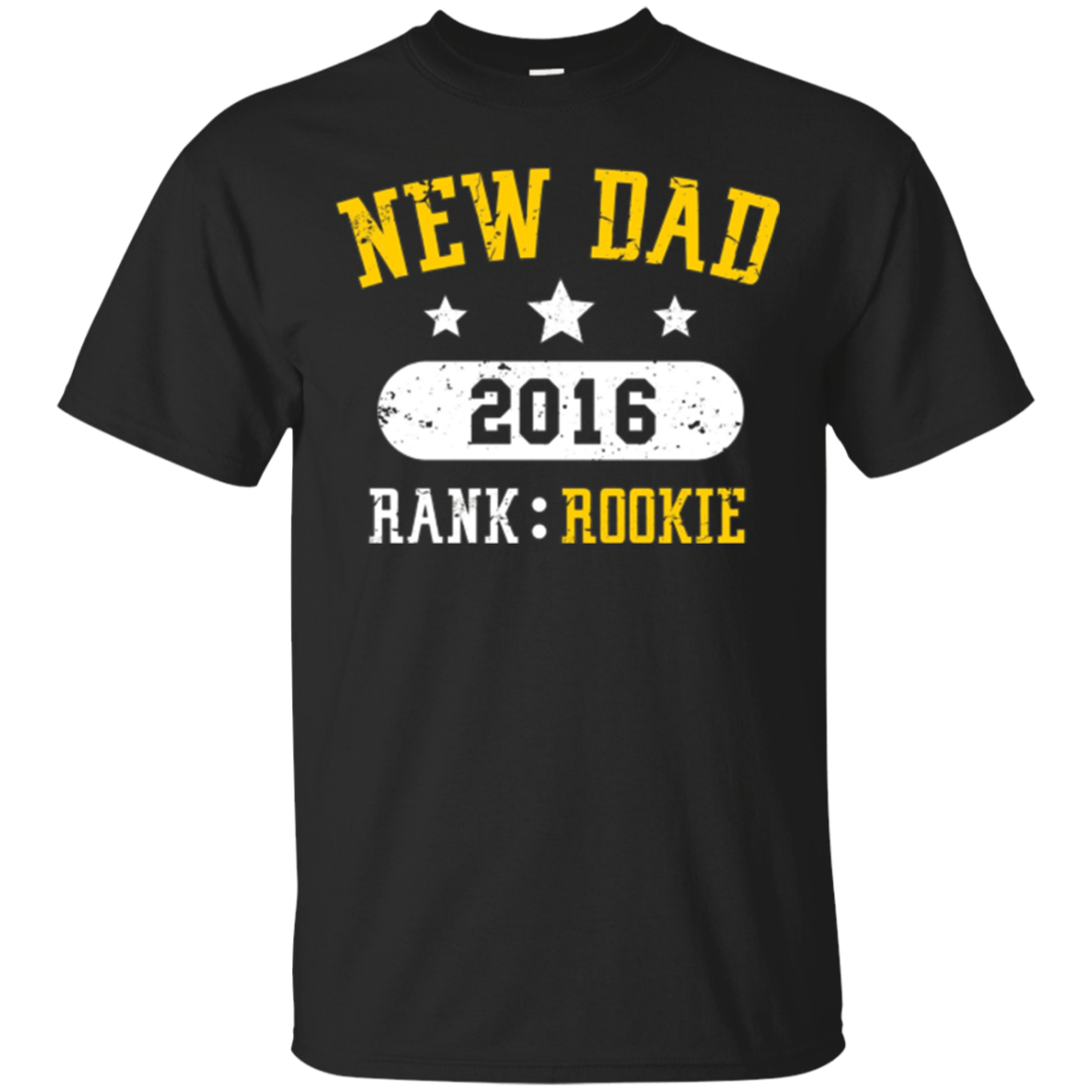 New Dad T-shirt, Funny Rookie Father 2016, By Zany Brainy