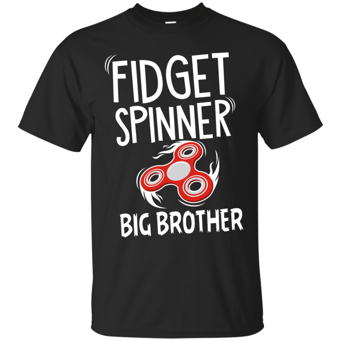 Kids Fidget Spinner Big Brother T-Shirt - Fidgeter Boys Tee
