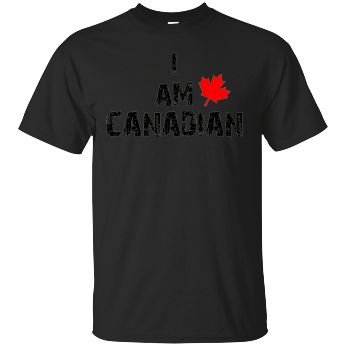 I Am Canadian Canada Distressed Maple Leaf TShirt