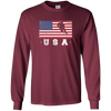 Image of American USA Flag Ice Hockey T-Shirt Patriotic Sports Gift