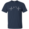 Image of Sport Bike Motorcycle Heartbeat T Shirt For Riders