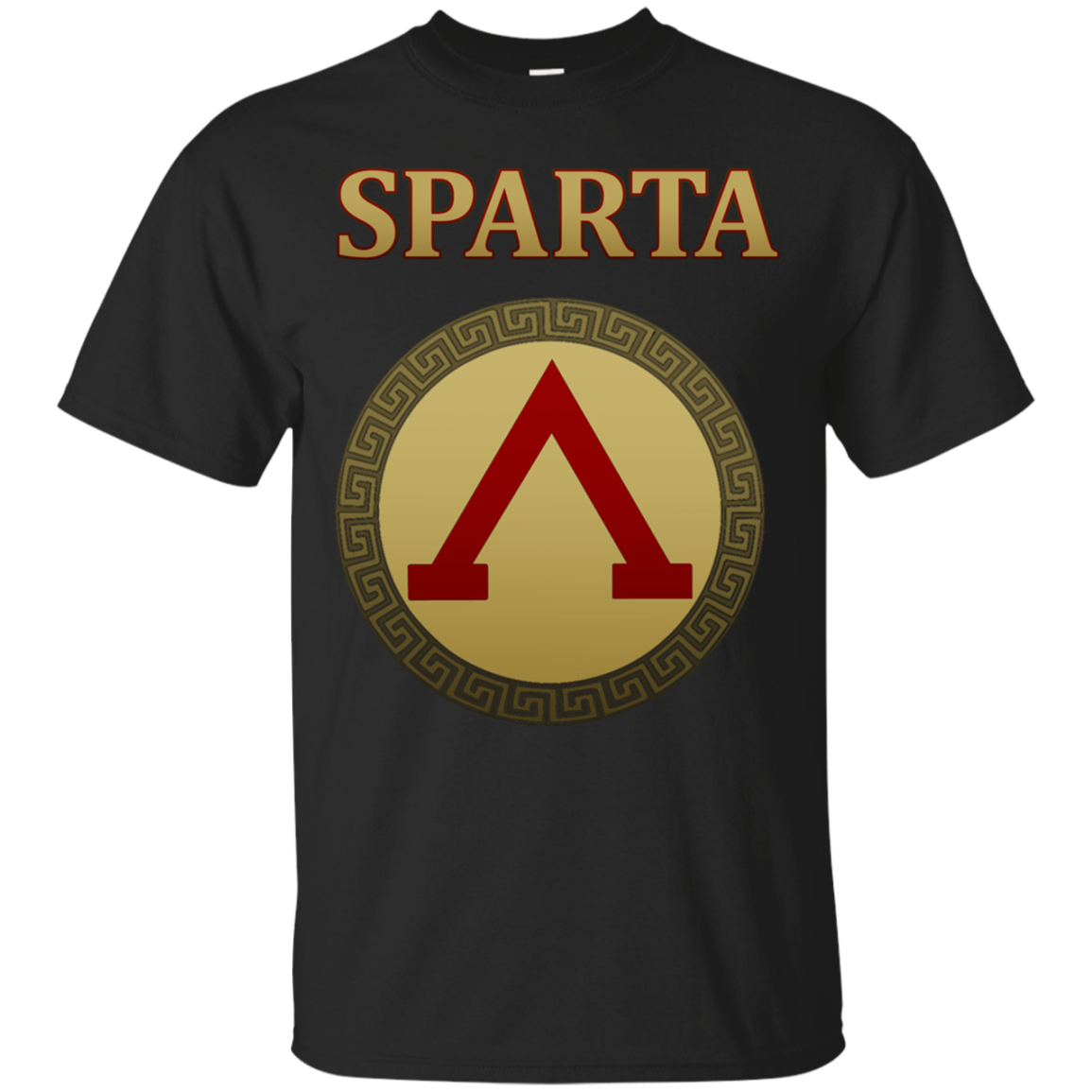 Spartan Warrior Shield T-shirt