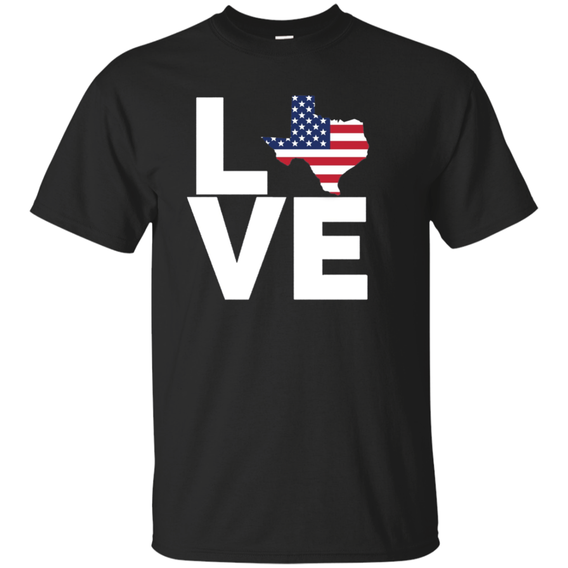 I Love Texas Flag State BACK PRINT Long Sleeve Shirt