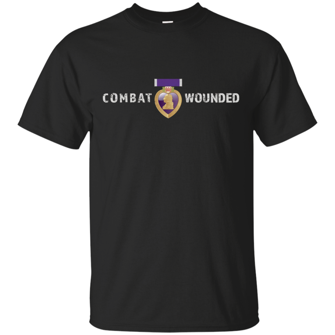 Purple Heart Shirt Combat Wounded Military Vet Tee