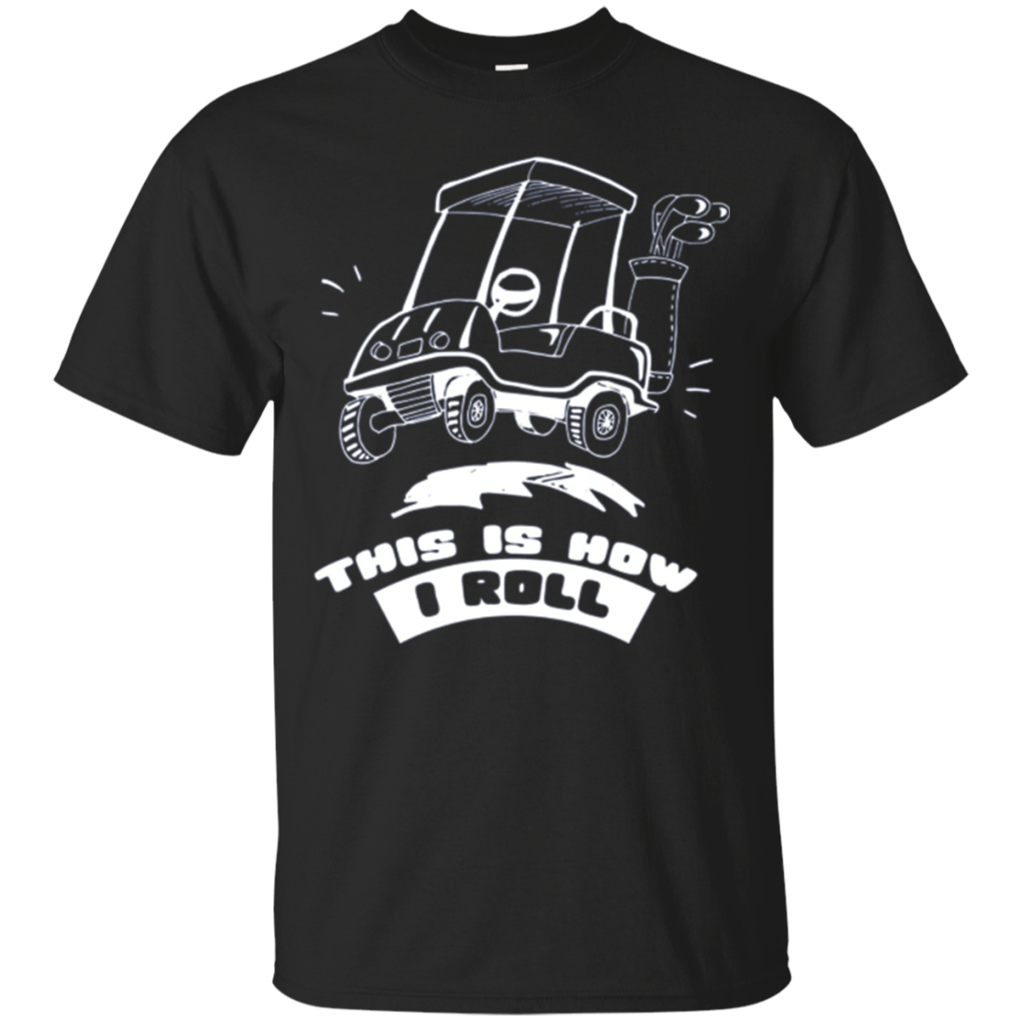 This Is How I Roll Funny Golf Cart Long-Sleeve T-Shirt
