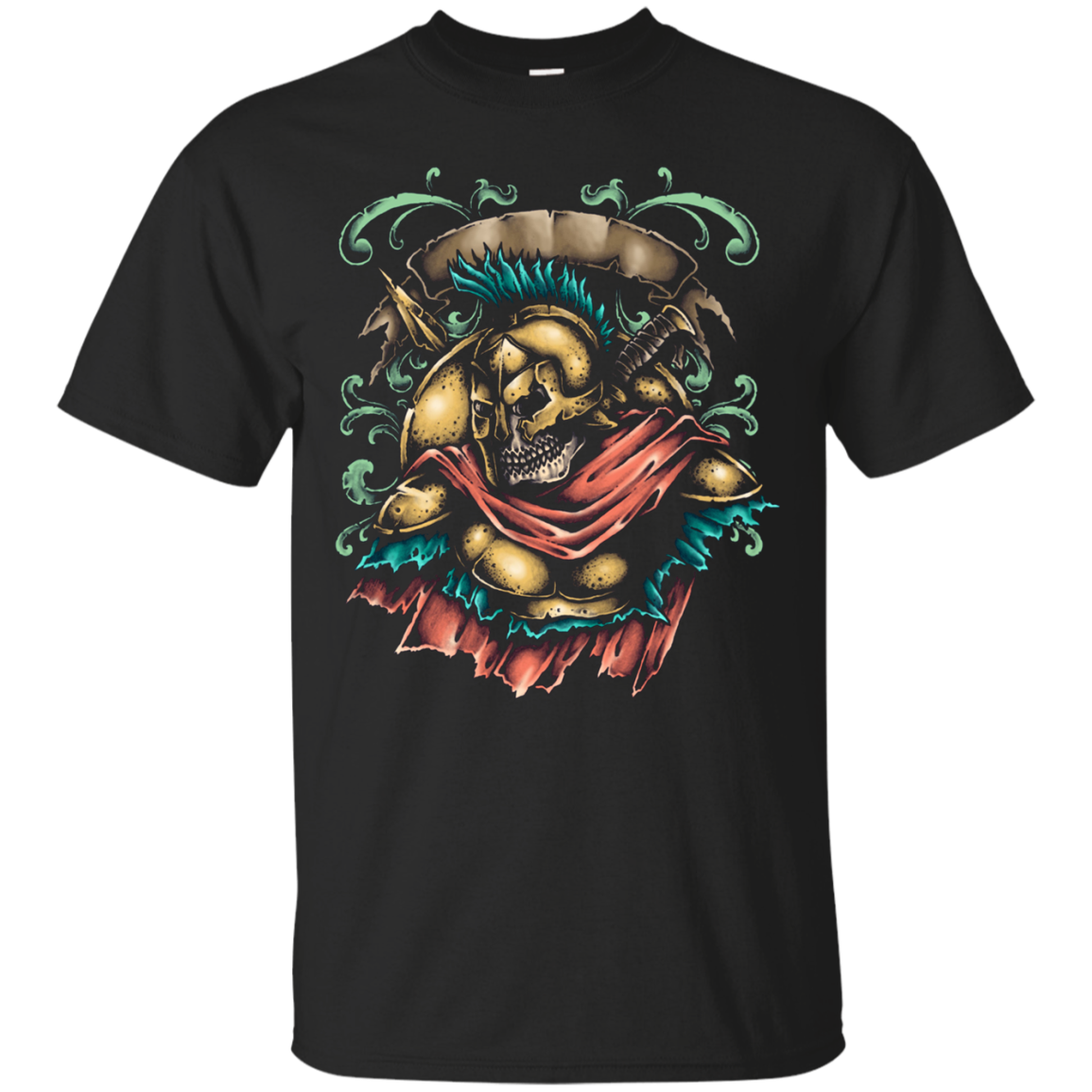 Sparta Greece - Warrior Home Skeleton Graphic Tee
