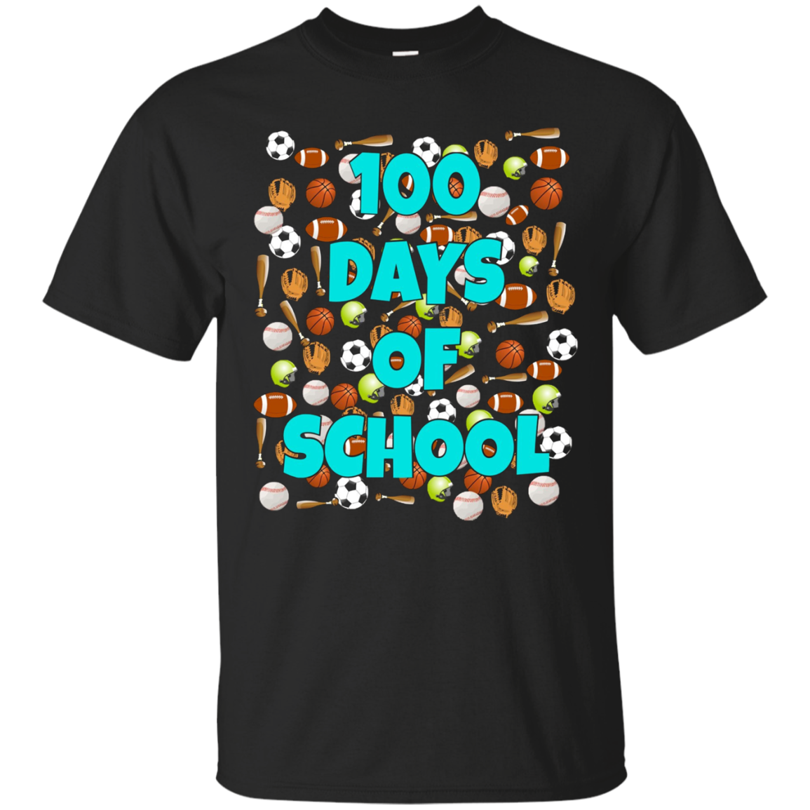 100 Days of School T Shirt for kids or teachers - Sports