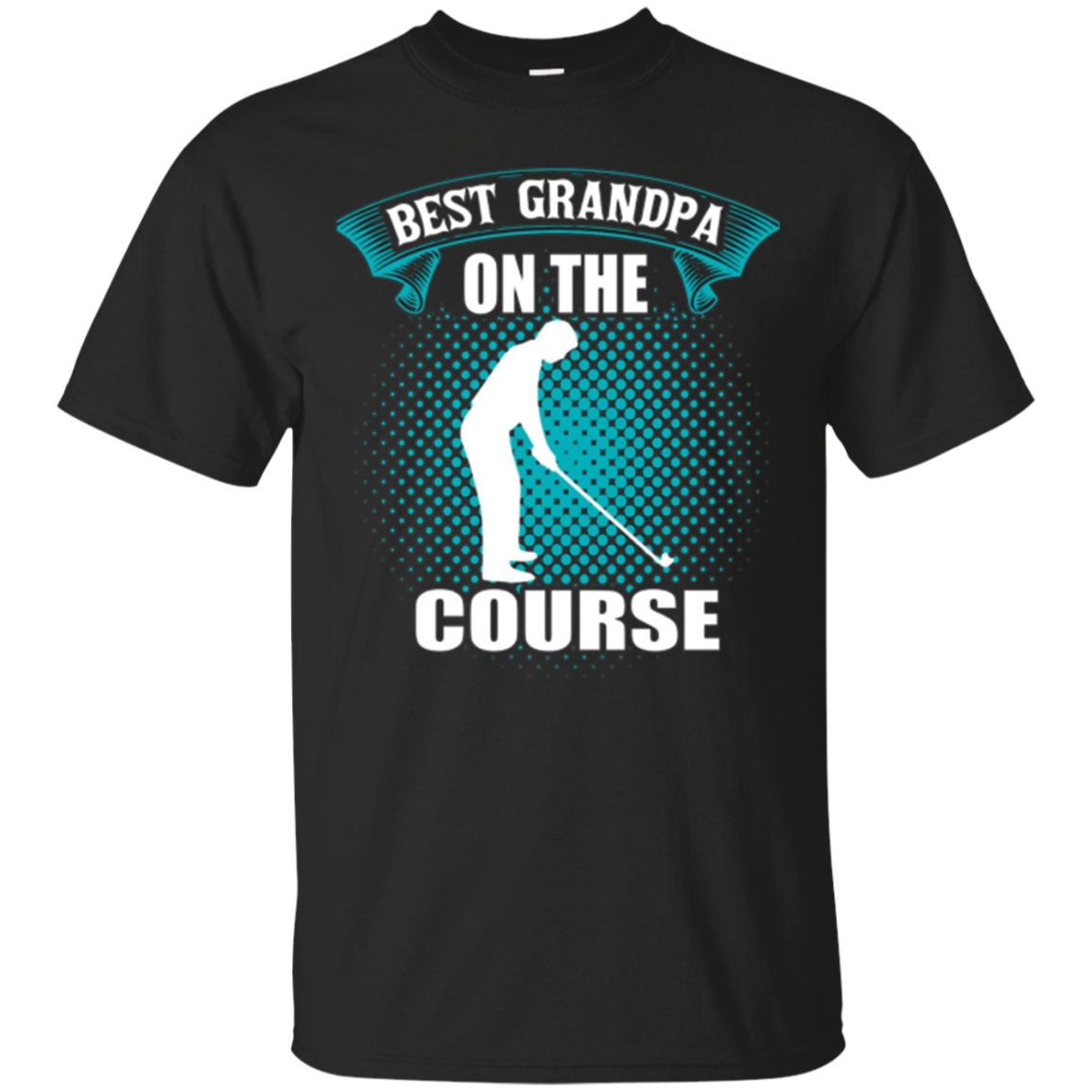 Mens Best Grandpa On The Course Golf Shirts for Men Gift for Dad