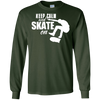 Image of Keep Calm and Skate On Skateboarding Tee Skateboard Riders