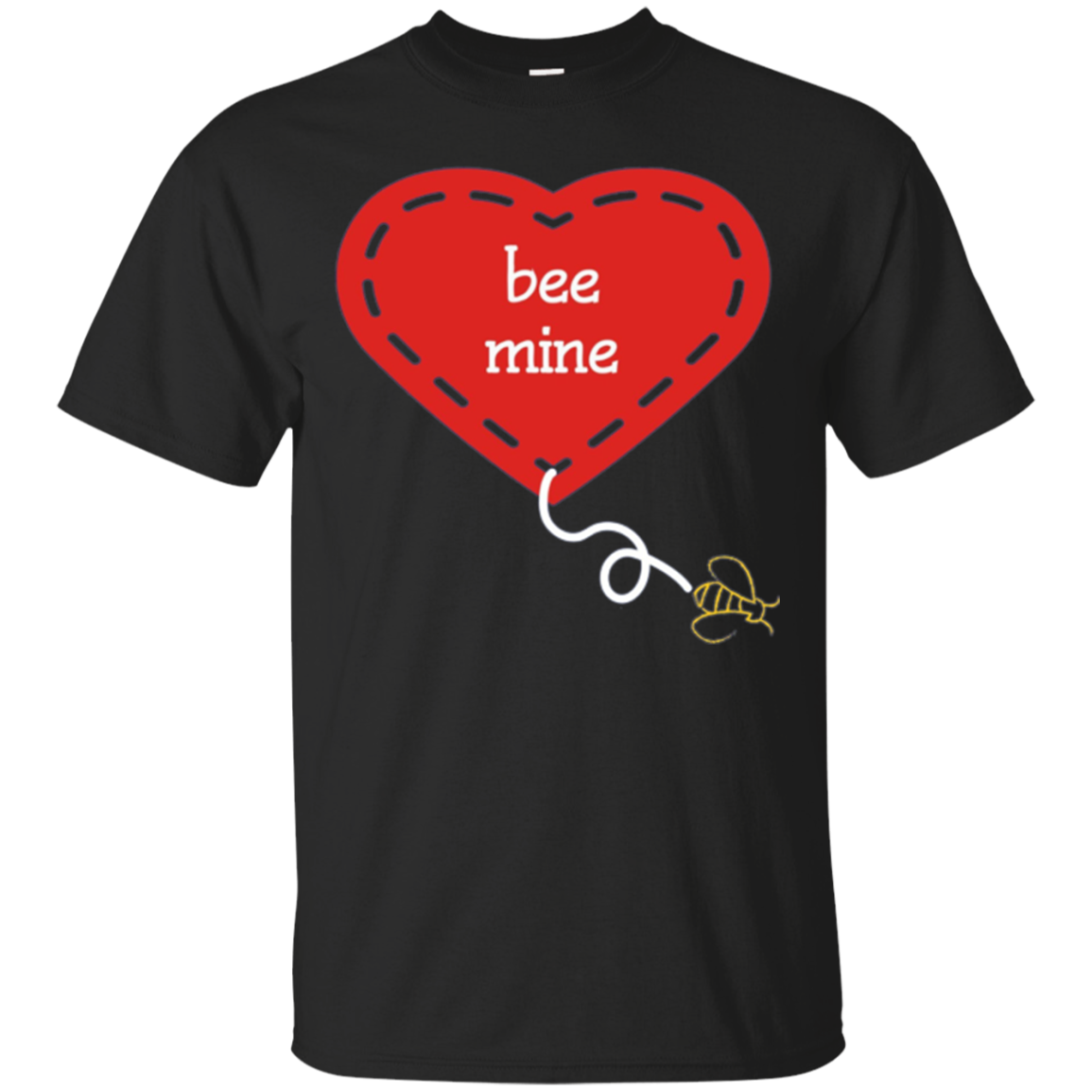 romantic valentine bee mine cute graphic t-shirt tee shirt