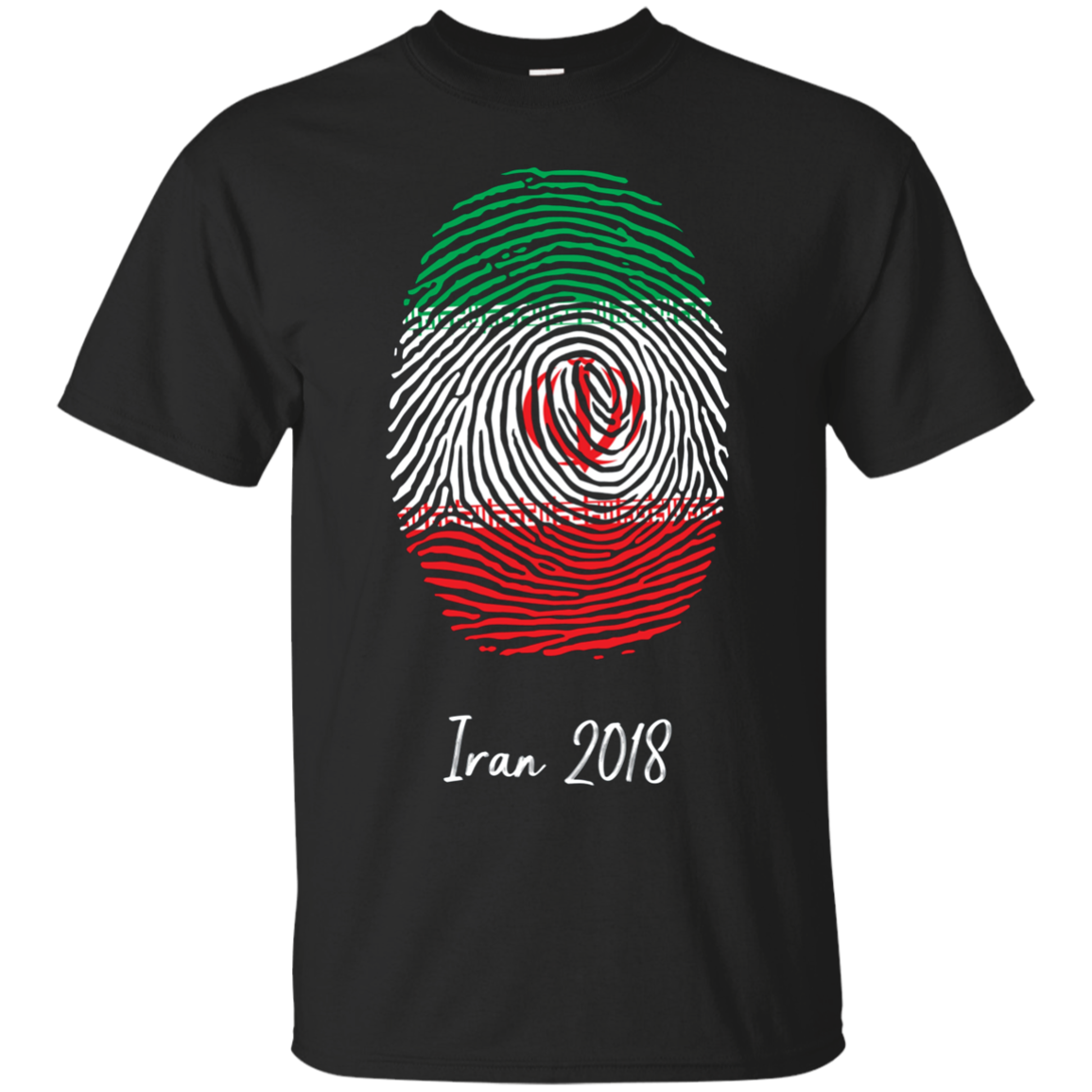 Iran Shirt 2018 Thumbprint Soccer Flag Design