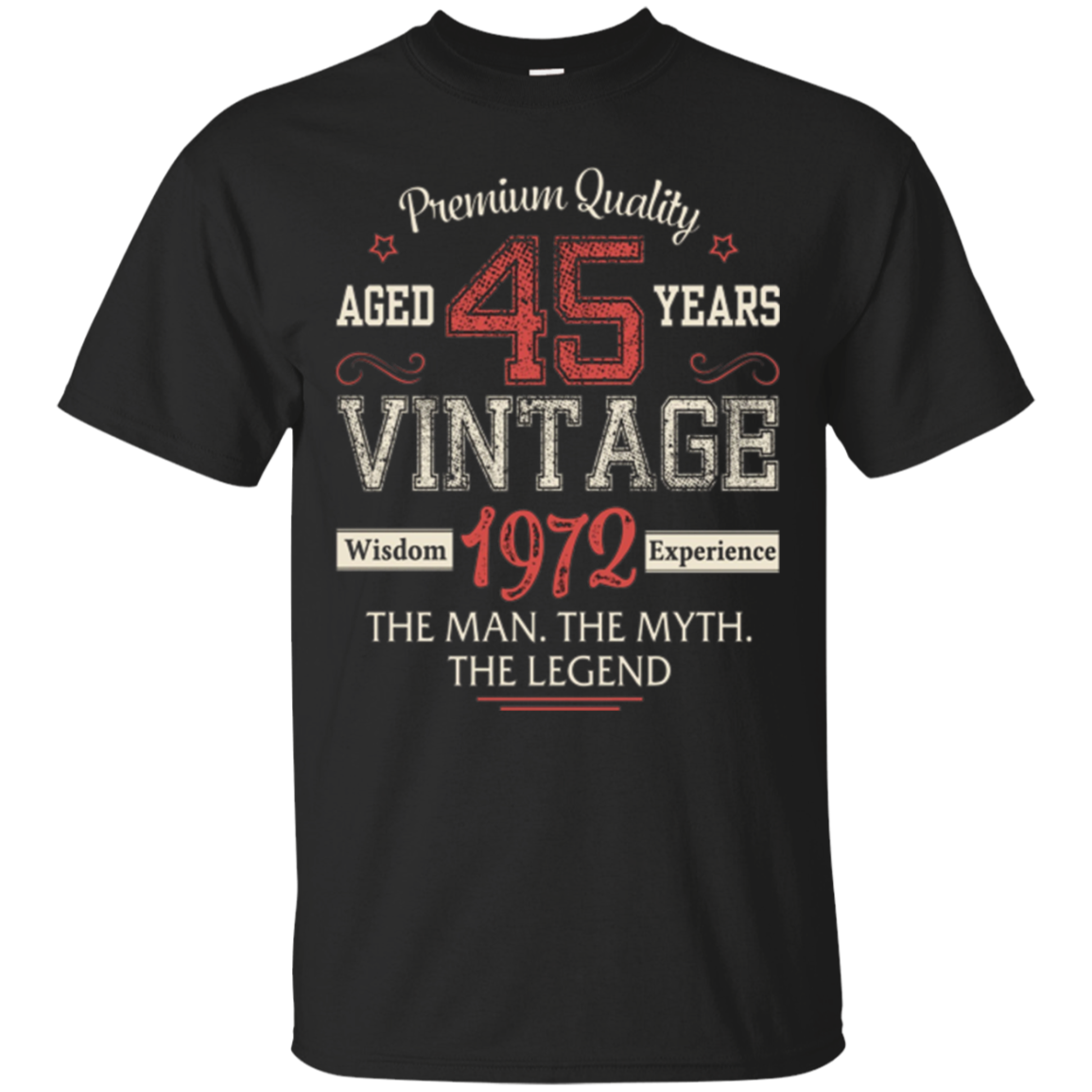 Legends Are Born In 1972 Aged 45 Years Old Vintage Awesome