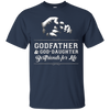 Image of Mens Godfather God-Daughter Friends Fist Bump TShirt Family Cool