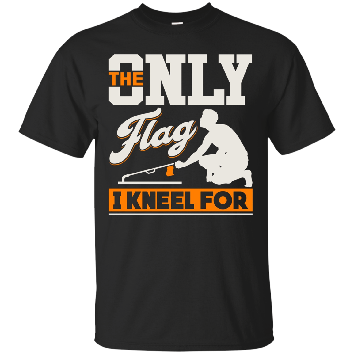 The only Flag I kneel for - Ice Fishing Tip-Up Flag T-Shirt