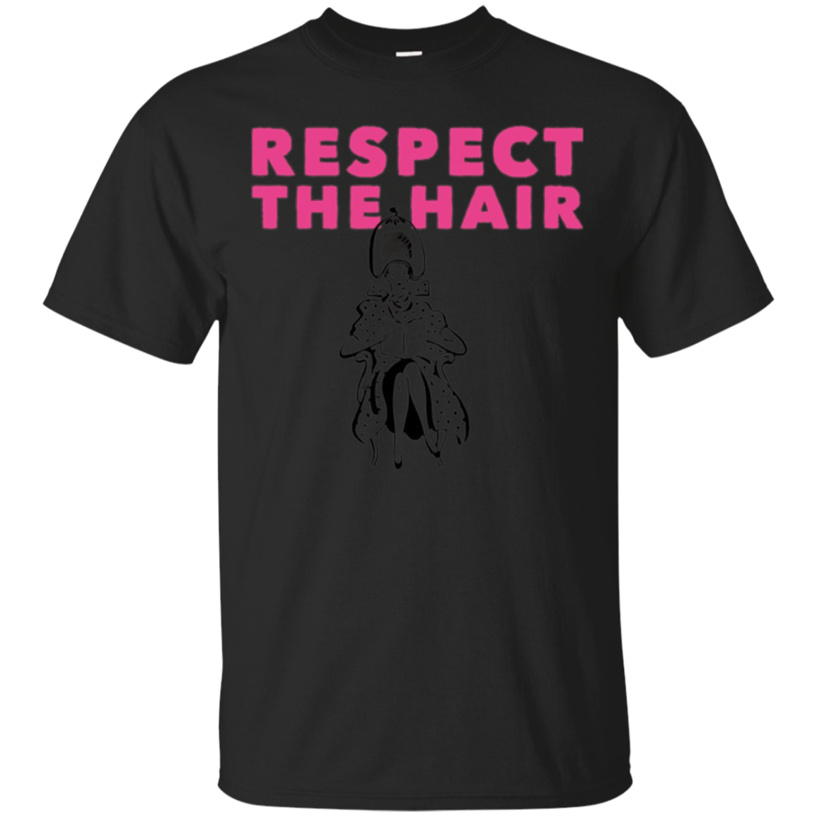 Respect the hair - Perfect hairdresser T shirt Pink writing