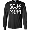 Image of Boy Mom Love Hearts Cute T-Shirt for New Mothers of Baby Boy