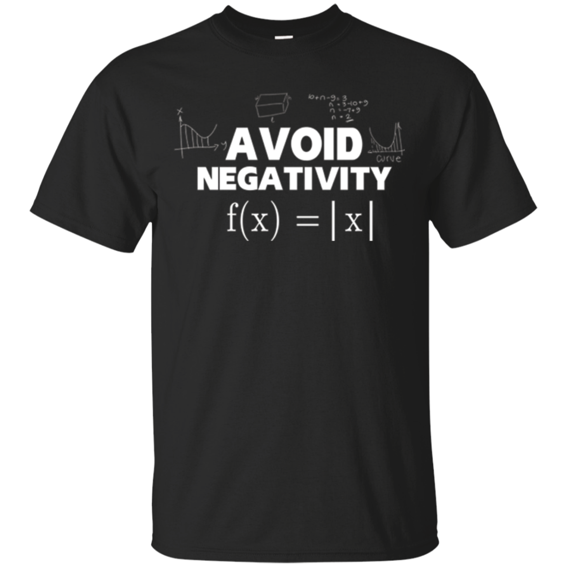 Avoid Negativity Funny Math Problem Engineer Shirt Gift