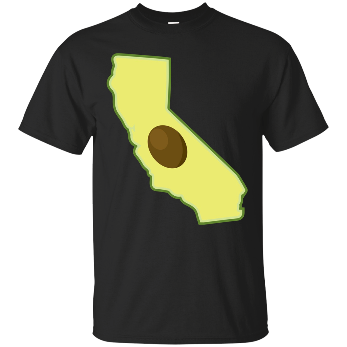 California State Map Avocado Fruit T Shirt