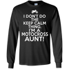 Image of I Don't Do Keep Calm Motocross Aunt Shirt - Moto Family