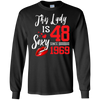 Image of Vintage Born in 1969 48th Birthday Gift 48 This Lady Awesome