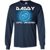 Image of Mens Daddy Level Unlocked T-Shirt Funny Dad Game Geek Gift