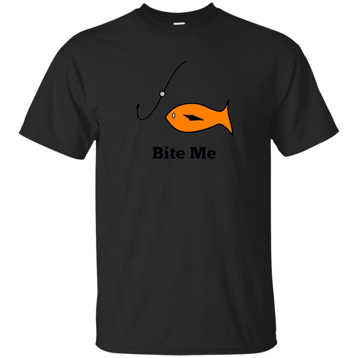 Bite Me Funny Fishing T Shirt for Fisherman and Fish Lovers