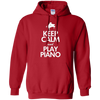 Image of Keep Calm And Play Piano T-Shirt, Funny Players Quote Gift
