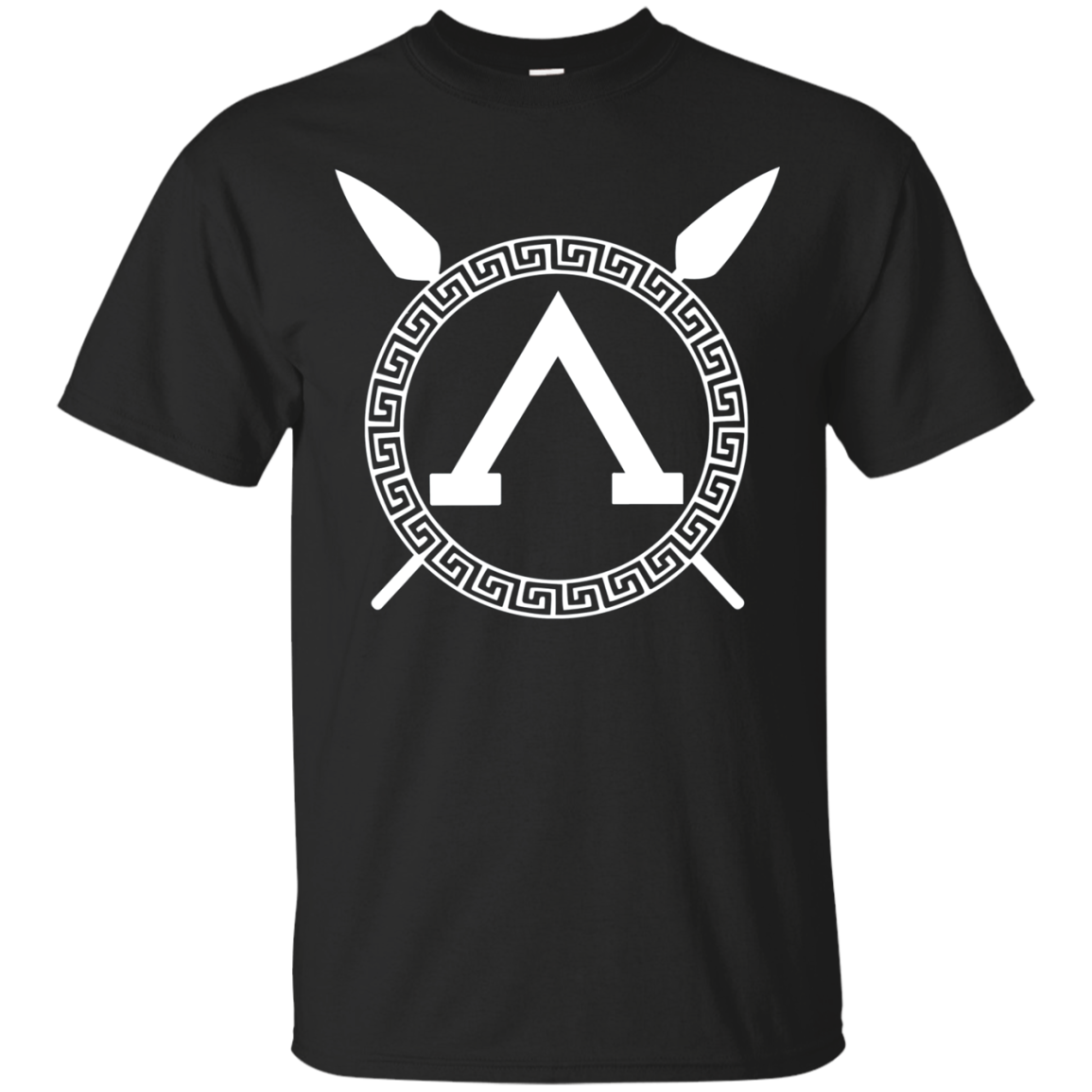 Spartan Warrior Spears and Shield T-shirt