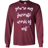 Image of you're my favorite work of art lyrics love song t-shirt