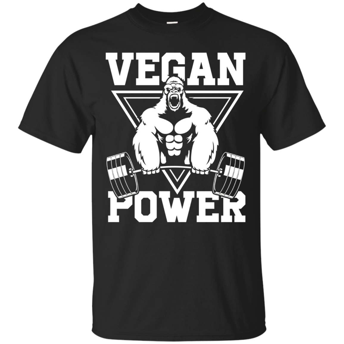 Vegan Power Workout Shirt Muscle Gorilla Gym Bodybuilding
