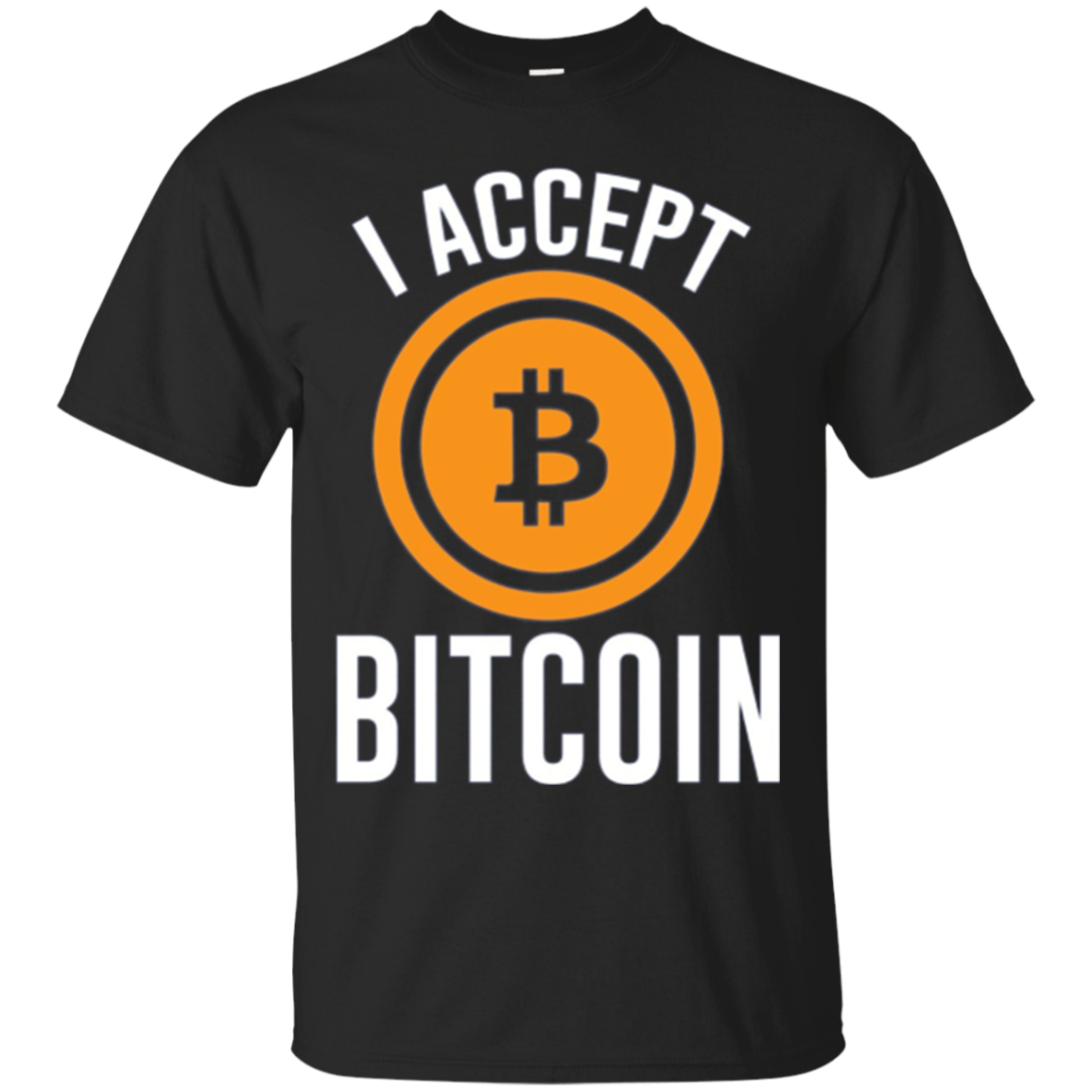 I Accept Bitcoin Cryptocurrency Funny Long Sleeve