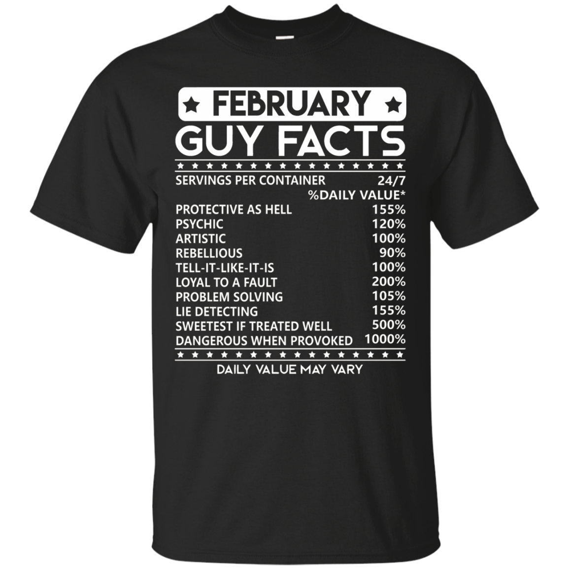 Mens February Guy Facts T-shirt