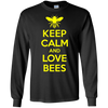 Image of Beekeeper T-Shirt Beekeeping Shirt Keep Calm and Love Bees