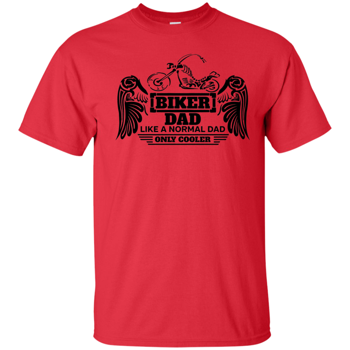 Mens Biker Dad T-shirt - Shirt for Motorcycle Fathers