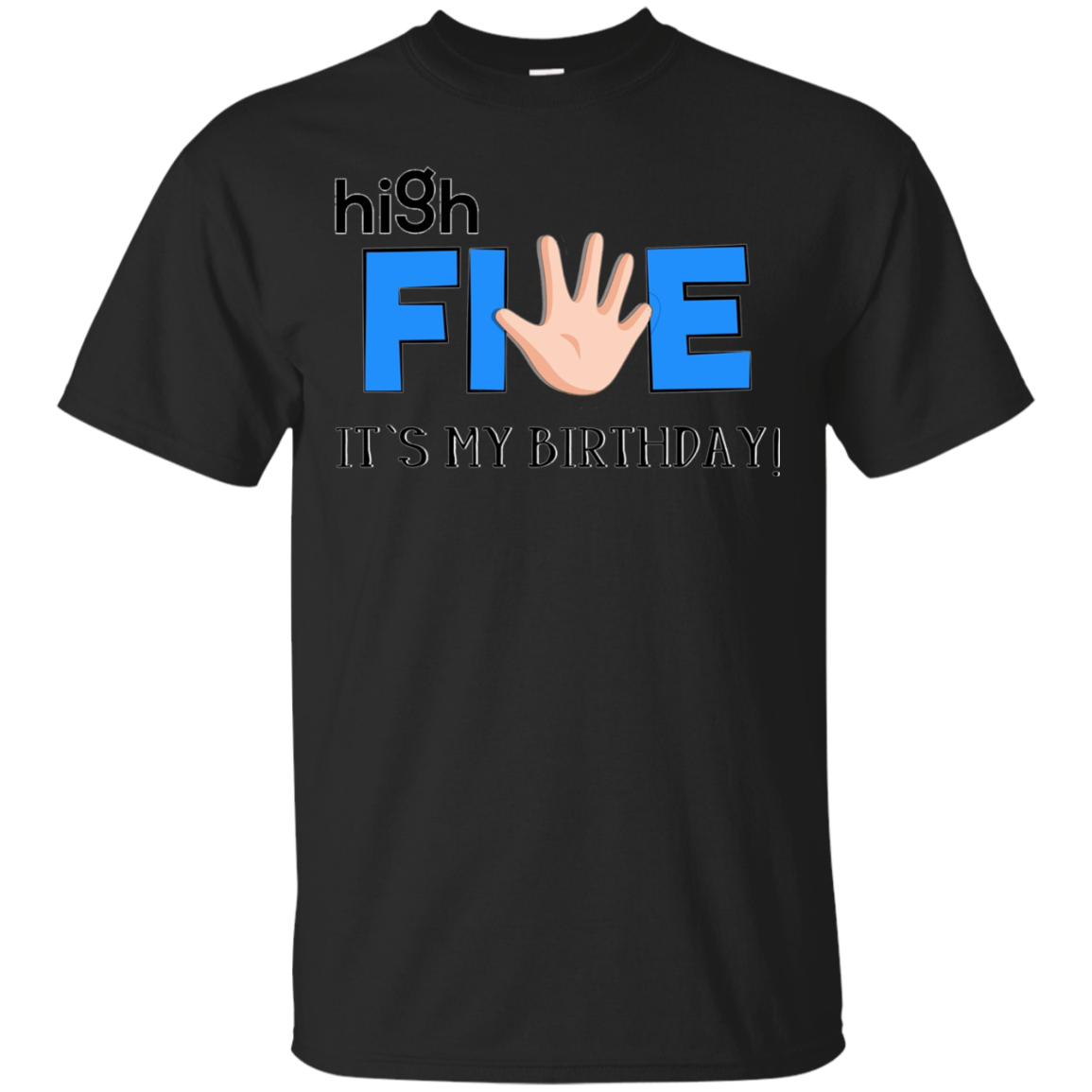 Kids High Five - 5 Year Old Kids Birthday Graphic T Shirt
