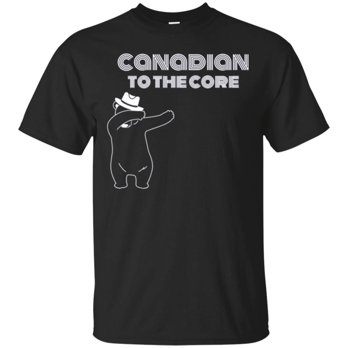 Canadian To The Core Dabbing Bear Proud Canada T-Shirt