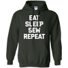 Image of Funny Sewing Shirt: Eat, Sleep, Sew, Repeat T-Shirt funny