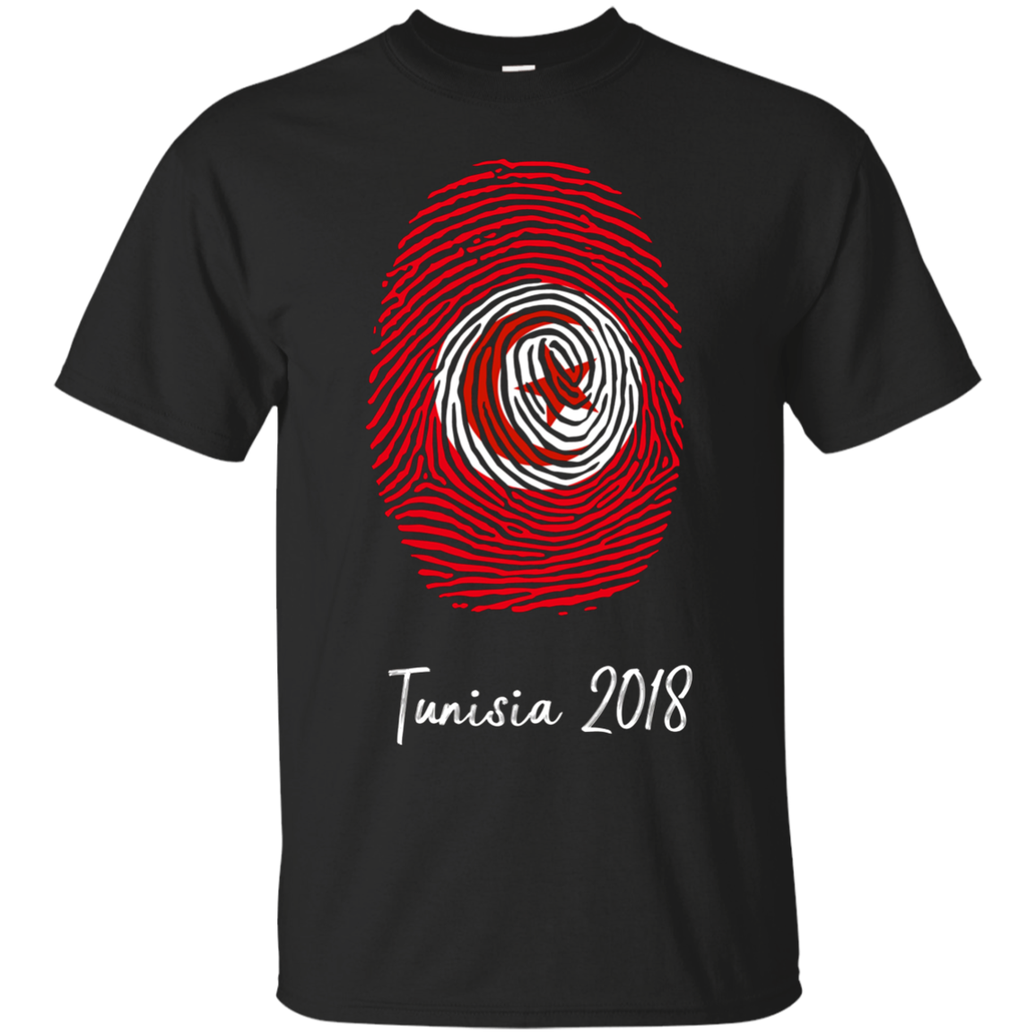 Tunisia Shirt 2018 Thumbprint Soccer Flag Design