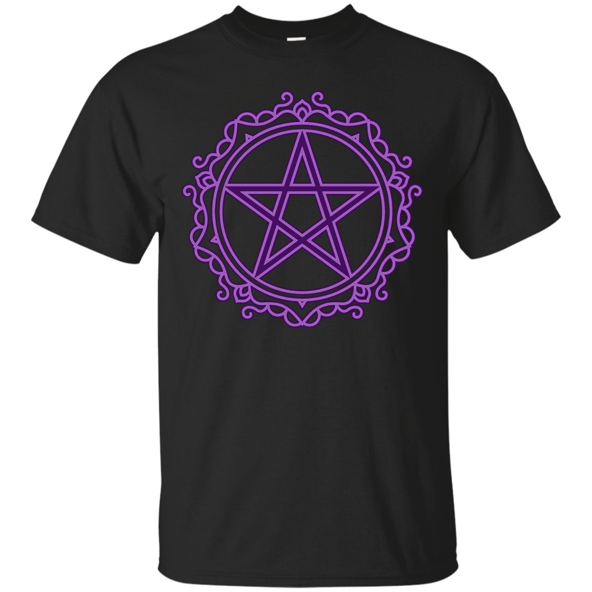 Purple Pentacle t shirt Wiccan Pagan Witch symbol Tee