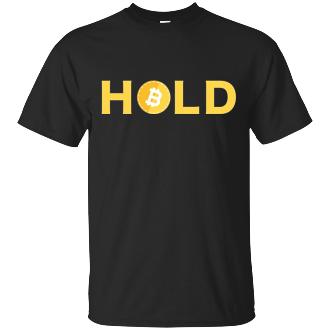 Bitcoin T-shirt HOLD funny for Bitcoin Owners Miner Trader