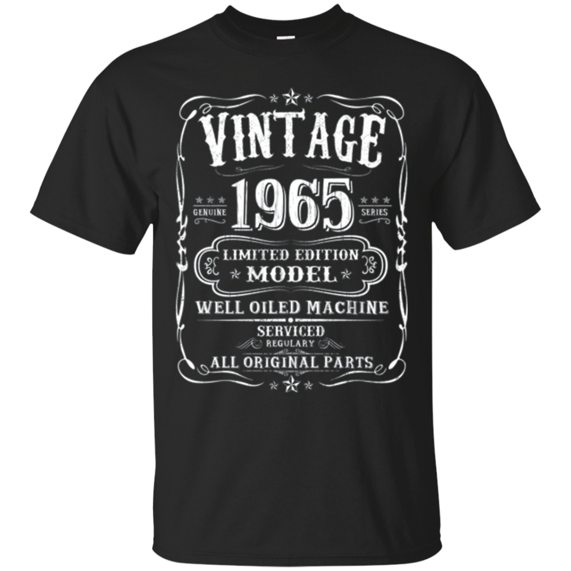 Vintage 53th Birthday Funny T-shirt 1965 All Original Parts