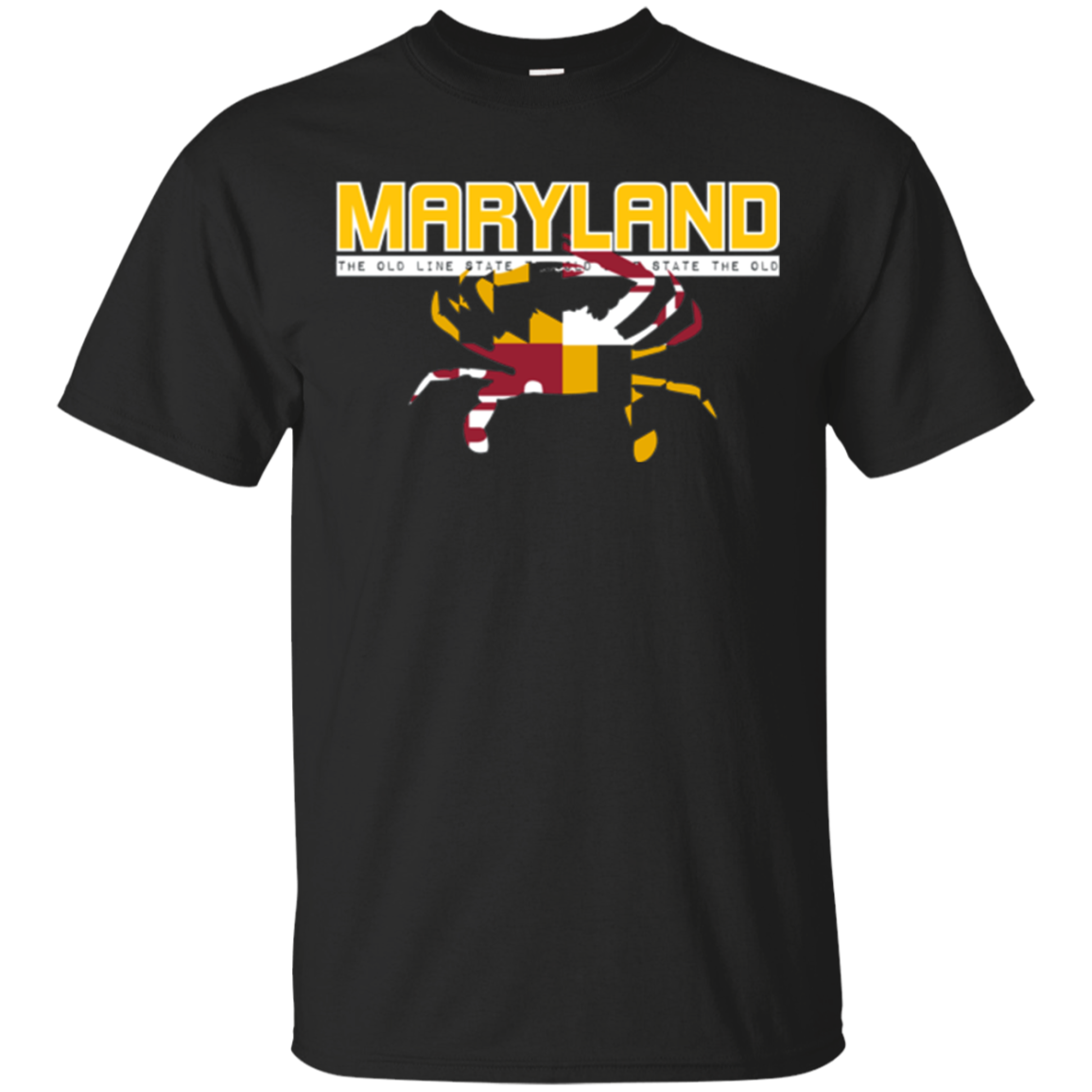USA States: Vintage Maryland State Pride Flag Crab T-Shirt