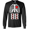 Image of Funny Halloween Skeleton Beer Abs Costume Party T-Shirt