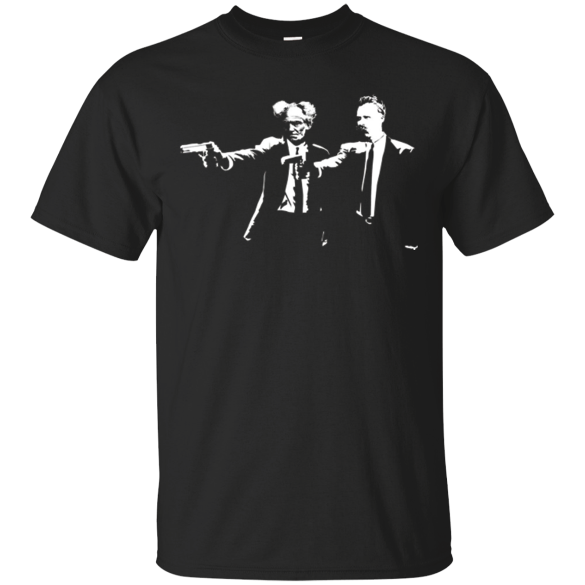 Nietzsche and Schopenhauer Philosopher Exitentialist T Shirt